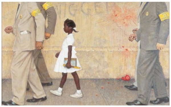 The problem we all live with, 1964, Norman Rockwell