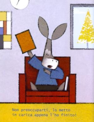 """Illustrazione tratta da """"È un libro"""", Lane Smith, ed. Rizzoli"""