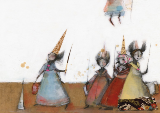 La Bella Durmiente del Bosque, illustrazione di Carmen Cardemil, editorial Amanuta 2012
